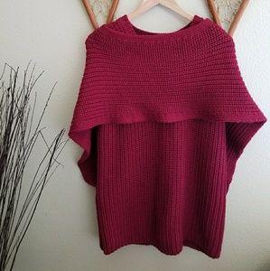BCBGMaxAzria heavy knit shawl sweater